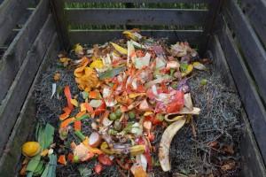 abfälle auf kompost
